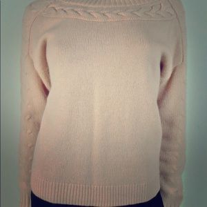 Ann Taylor Pink Wool & Cashmere Sweater